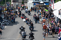 Lakeside Avenue in Weirs Beach during Laconia Motorcycle Week. NH, USA. Friday, June 15, 2018. Photography ©2018 Michael Lichter.