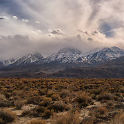 Incoming Storm Eastern Sierra - North Big Pine, CA
