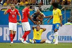 June 17, 2018 - Rostov Do Don, Rússia - ROSTOV DO DON, RO - 17.06.2018: BRAZIL VS SWITZERLAND - Gabriel Jesus do Brasil complains about a foul during a match between Brazil and Switzerland valid for the first round of group E of the 2018 World Cup, held at the Rostov Arena in Rostov on Don, Russia. (Credit Image: © Marcelo Machado De Melo/Fotoarena via ZUMA Press)