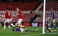 Middlesbrough's Dael Fry scores his side's consolation goal  <br /> <br /> Photographer Alex Dodd/CameraSport<br /> <br /> The EFL Sky Bet Championship - Middlesbrough v Bristol City - Tuesday 23rd February 2021 - Riverside Stadium - Middlesbrough<br /> <br /> World Copyright © 2021 CameraSport. All rights reserved. 43 Linden Ave. Countesthorpe. Leicester. England. LE8 5PG - Tel: +44 (0) 116 277 4147 - admin@camerasport.com - www.camerasport.com