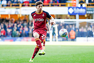 Bradford City forward Jordan Gibson (27) plays the ball square during the EFL Sky Bet League 1 match between Bradford City and Sunderland at the Northern Commercials Stadium, Bradford, England on 6 October 2018.