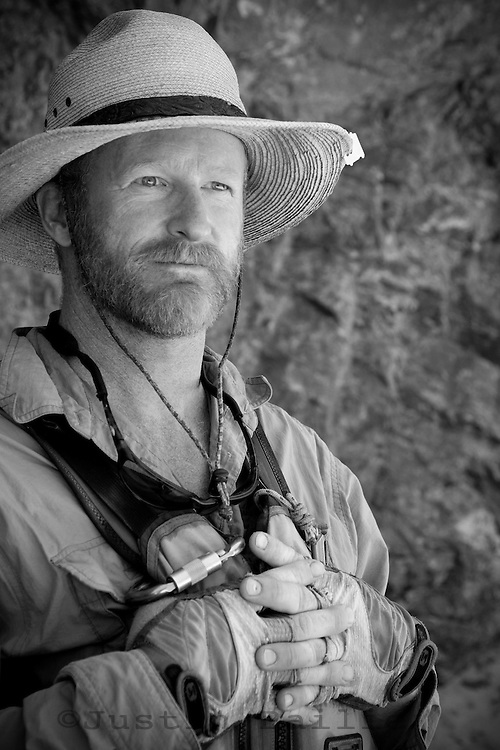 Portrait of river guide. Grand Canyon National Park, AZ.