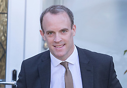 © Licensed to London News Pictures. 11/04/2019. London, UK. Former Brexit Secretary Dominic Raab leaves home. The EU has agreed a further Brexit delay until October 31st. Photo credit: Peter Macdiarmid/LNP