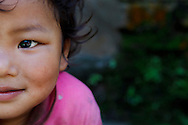 Portrait of a young Sherpa girl, Annapurna Sanctuary, Nepal