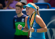 Kiki Bertens of the Netherlands in action during the semi-final at the 2018 Western and Southern Open WTA Premier 5 tennis tournament, Cincinnati, Ohio, USA, on August 18th 2018, Photo Rob Prange / SpainProSportsImages / DPPI / ProSportsImages / DPPI