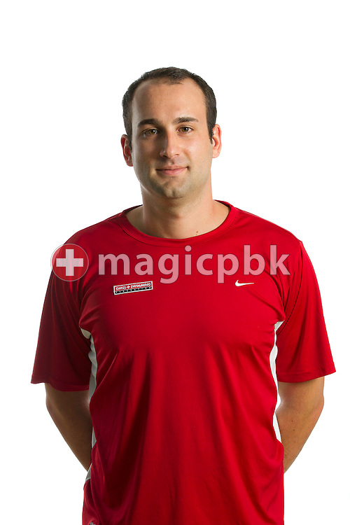 Team Manager Luka GABRILO of Switzerland poses during a portrait session during the International Swim Meet Uster 2012 in Uster, Switzerland, Saturday, Jan. 28, 2012. (Photo by Patrick B. Kraemer / MAGICPBK)