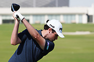 Cormac Sharvin (NIR) on the driving range during the Preview of the Commercial Bank Qatar Masters 2020 at the Education City Golf Club, Doha, Qatar . 03/03/2020<br /> Picture: Golffile | Thos Caffrey<br /> <br /> <br /> All photo usage must carry mandatory copyright credit (© Golffile | Thos Caffrey)