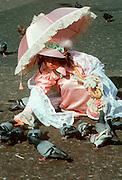 SPAIN, BARCELONA Plaza Catalunya; Carnival costume