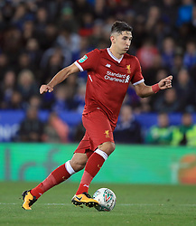 """Liverpool's Marko Grujic during the Carabao Cup, third round match at the King Power Stadium, Leicester. PRESS ASSOCIATION Photo. Picture date: Tuesday September 19, 2017. See PA story SOCCER Leicester. Photo credit should read: Mike Egerton/PA Wire. RESTRICTIONS: EDITORIAL USE ONLY No use with unauthorised audio, video, data, fixture lists, club/league logos or """"live"""" services. Online in-match use limited to 75 images, no video emulation. No use in betting, games or single club/league/player publications."""