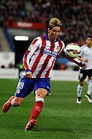 Atletico de Madrid´s Fernando Torres during 2014-15 La Liga match between Atletico de Madrid and Valencia CF at Vicente Calderon stadium in Madrid, Spain. March 08, 2015. (ALTERPHOTOS/Luis Fernandez)