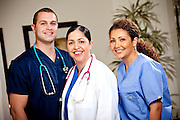 Hospital Medical Staff with Male and Female Nurses Smiling