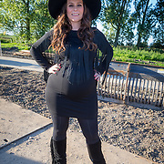 NLD/Haarzuilens/20150927 - Opname 'Open het Bos', zwangere Trijntje Oosterhuis