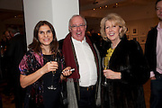 GULGUN ODABAS; PAUL TRIGG; JUDITH ROBINSON, Bonhams Auction house hosts festive drinks to preview the first phase of the reconstruction of its Mayfair Headquarters - due for completion in 2013.<br /> Bonhams, 101 New Bond Street, London, 19 December 2011.