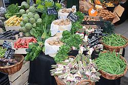 Vegetable stall, Borough market, London UK Mrach 2019