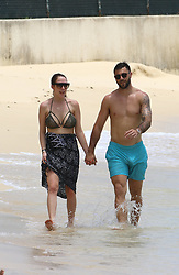 EXCLUSIVE: Charlie Austin and wife are pictured on the beach in Barbados. 24 May 2017 Pictured: Charlie Austin. Photo credit: Queensofthenorth/MEGA TheMegaAgency.com +1 888 505 6342