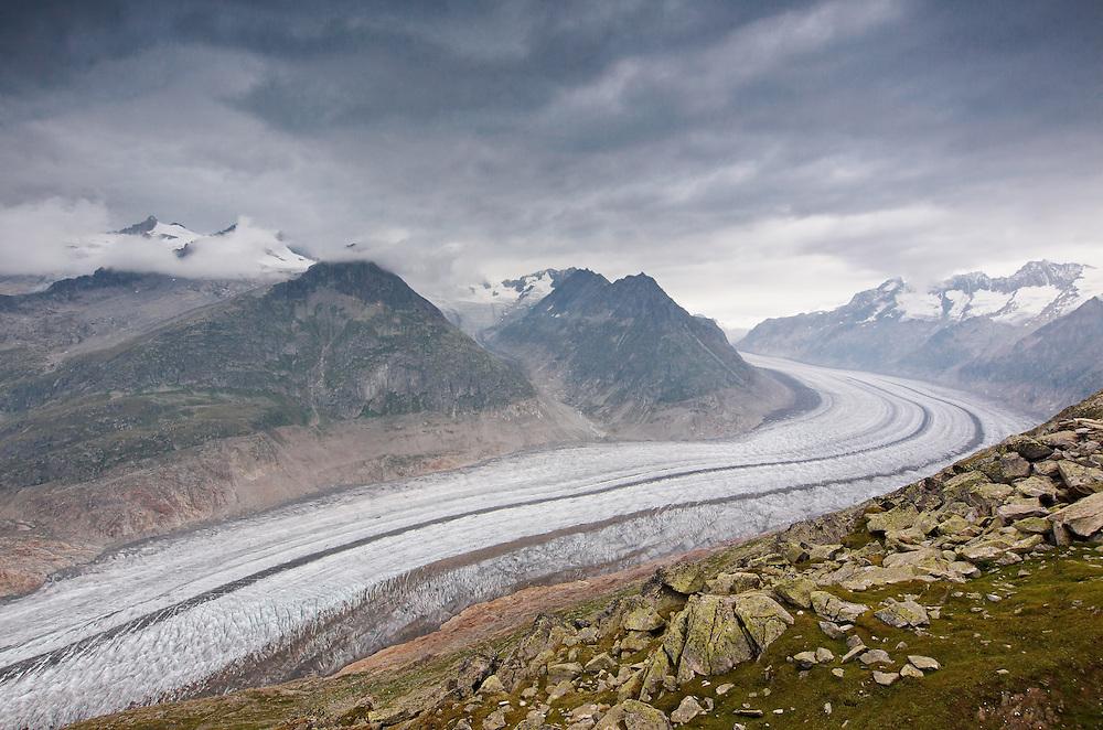 Switzerland - Aletsch glacier view