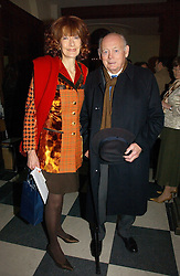 LORD & LADY MONTAGU OF BEAULIEU at the annual House of Lords and House of Commons Parliamentary Palace of Varieties in aid of Macmillan Cancer Support held at St.John's Smith Square, London W1 on 1st February 2007.<br /><br />NON EXCLUSIVE - WORLD RIGHTS