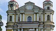 Exterior view of St. Peter and St. Paul's Church<br /> Šv. apaštalų Petro ir Povilo bažnyčia, in Vilnius, Lithuania