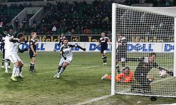 18.12.2010, Volkswagen Arena, Wolfsburg, GER, 1.FBL, VfL Wolfsburg vs 1899 Hoffenheim, im Bild Edin Dzeko (Wolfsburg #9) trifft zum Ausgleich EXPA Pictures © 2010, PhotoCredit: EXPA/ nph/  Schrader       ****** out ouf GER ******