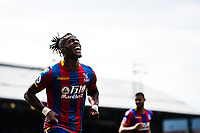 LONDON, ENGLAND - MAY 13: Wilfried Zaha (11) of Crystal Palace, celebrate after scoring goal during the Premier League match between Crystal Palace and West Bromwich Albion at Selhurst Park on May 13, 2018 in London, England. MB Media
