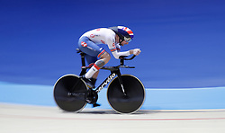 Great Britain's Jon Gildea on is way to winning the Mens C5 4000m Pursuit final, during day two of the Manchester Paracycling International at the HSBC UK National Cycling Centre, Manchester.