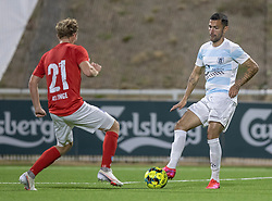 David Boysen (FC Helsingør) under kampen i 1. Division mellem FC Helsingør og Silkeborg IF den 11. september 2020 på Helsingør Stadion (Foto: Claus Birch).