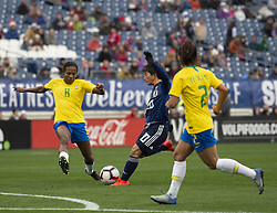 March 2, 2019 - Nashville, Tennessee, U.S - Team Japan player #20 ''KUMI YOKOYAMA''  attempting to make a goal. (Credit Image: © Hoss McBain/ZUMA Wire)
