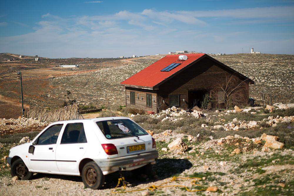A general view of 'Bikta Bakerem' bed and breakfast, which is advertised on Airbnb international home-sharing site and rental listings service, in the West Bank Jewish outpost of Esh Kodesh, on January 28, 2016.