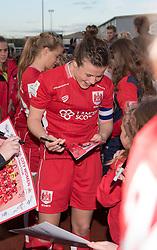 Hayley Ladd of Bristol City Women signs autographs - Mandatory by-line: Paul Knight/JMP - 20/05/2017 - FOOTBALL - Stoke Gifford Stadium - Bristol, England - Bristol City Women v Liverpool Ladies - FA Women's Super League Spring Series
