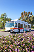 OCTA Bus Arriving At Saddleback College In Mission Viejo