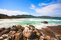 lopes mendes beach in the beautiful island of ilha grande near rio de janeiro in brazil
