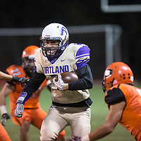 Kirtland Central Broncos running back Jaedan Alfred carries the ball in the second quarter against the  Gallup Bengals, Friday Nov. 2, at Angelo DiPaolo Stadium in Gallup.