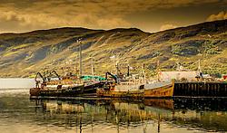 Fishing boats in the harbour at Ullapool, Wester Ross, Scotland<br /> <br /> (c) Andrew Wilson   Edinburgh Elite media