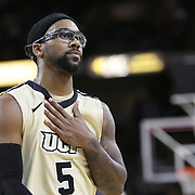 Central Florida guard Marcus Jordan (5) during the first half of a Conference USA NCAA basketball game between the Rice Owls and the Central Florida Knights at the UCF Arena on January 22, 2011 in Orlando, Florida. Rice won the game 57-50 and extended the Knights losing streak to 4 games.  (AP Photo/Alex Menendez)