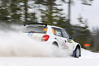 MOTORSPORT - WORLD RALLY CHAMPIONSHIP 2012 - RALLY SWEDEN / RALLYE DE SUEDE - 08 TO 12/02/2012 - KARLSTAD (SWE) - PHOTO : FRANCOIS BAUDIN /  DPPI - ANDREAS MIKKELSEN - SKODA FABIA -ACTION