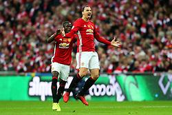 Zlatan Ibrahimovic of Manchester United celebrates after scoring his sides first goal   - Mandatory by-line: Matt McNulty/JMP - 26/02/2017 - FOOTBALL - Wembley Stadium - London, England - Manchester United v Southampton - EFL Cup Final