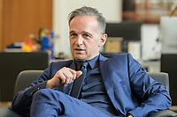 24 JUL 2020, BERLIN/GERMANY:<br /> Heiko Maas, SPD, Bundesaussenminister, waehrend einem Interview, in seinem Buero, Auswaertiges Amt<br /> IMAGE: 20200724-01-035<br /> KEYWORDS: Buero