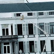 Renovatie en onderhoud paleis Soestdijk, schilderen buitenkant