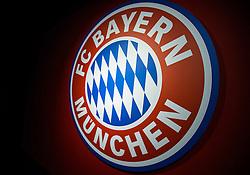 14-05-2013 VOETBAL: PERSCONFERENTIE FC BAYERN MUNCHEN: MUNCHEN<br /> FC Bayern Muenchen Logo<br /> ***NETHERLANDS ONLY***<br /> ©2013-FotoHoogendoorn.nl