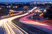 Travel and transportation on Interstate 25 in Cheyenne, Wyoming.