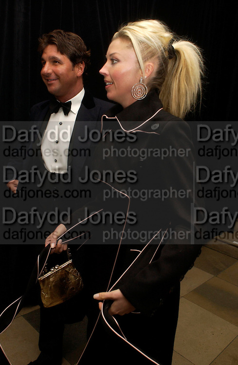 George Veroni and Tamara Beckwith. Dinner to unveil the Van Cleef & Arpels jewellery collection 'Couture' with fashion by Anouska Hempel Couture. The Banqueting House, Whitehall Palace, London on 8th March 2005.ONE TIME USE ONLY - DO NOT ARCHIVE  © Copyright Photograph by Dafydd Jones 66 Stockwell Park Rd. London SW9 0DA Tel 020 7733 0108 www.dafjones.com