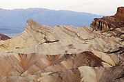 A close look at the rock formation at Zabriskie Point in Death Valley National Park.