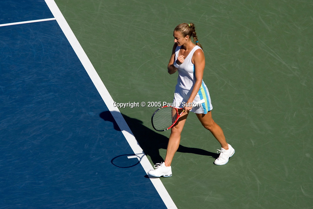 Mary Pierce after defeating Amelie Mauresmo in their quarter final match at the 2005 US Open Tennis, Flushing New York. September 7, 2005