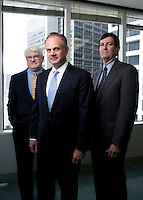 From left, David Elkins, David Lummis and Platt Davis.