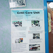 INDIVIDUAL(S) PHOTOGRAPHED: N/A. LOCATION: Justinian University Hospital (HUJ), Cap-Haïtien, Haïti. CAPTION: A poster at the Critical Care Unit of the Justinian University Hospital (HUJ) in Cap-Haïtien.