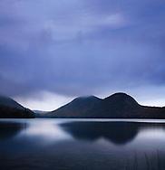 Sundown On The Bubbles At Jordan Pond, Acadia National Park, Maine