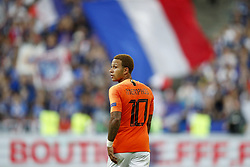 Memphis Depay of Holland during the UEFA Nations League A group 1 qualifying match between France and The Netherlands on September 09, 2018 at Stade de France in Saint Denis,  France