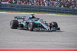 October 21, 2018 - Austin, TX, U.S. - AUSTIN, TX - OCTOBER 21: Mercedes driver Lewis Hamilton (44) of Great Britain exits turn 1 during the F1 United States Grand Prix on October 21, 2018, at Circuit of the Americas in Austin, TX. (Photo by Ken Murray/Icon Sportswire) (Credit Image: © Ken Murray/Icon SMI via ZUMA Press)