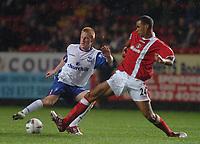 Credit: Back Page Images. Charlton Athletic v Crystal Palace, Carling Cup, 27/10/2004. Ben Watson (Crystal Palace) Jonathan Fortune (Charlton)