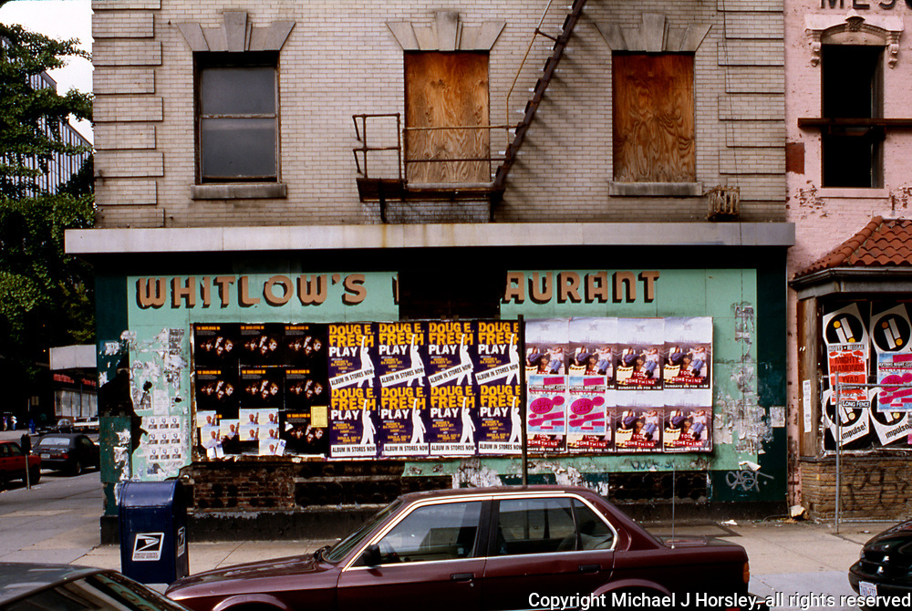11th Street between F and E NW Washington DC, 1994<br /> Whitlows South Facade